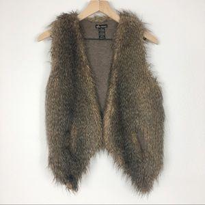 Ella Moss Cashmere Faux Fur Kennedy Vest